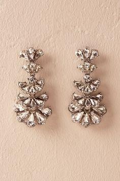 Silver Miya Crystal Drop Earrings | BHLDN