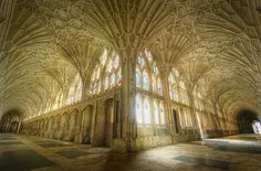 Cattedrale di Gloucester, particolare interno. #Gloucester #cathedral #gothic