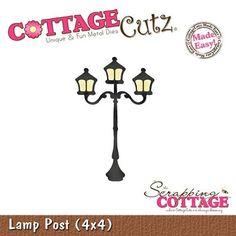 Cottage Cutz-4x4 Dies-Lamp Post      Item Number: COT-4x4-023  Your Price: $19.95