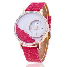 New Fashion Leather Strap Women Rhinestone Wrist Watch Hot Casual Women  Dress Watches Relogio Feminino. Nová MódaMódní TrendyDámská ... c279ba5b7b