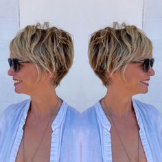Brown Pixie Bob With Blonde Highlights knallt Grunge 90 Classy and Simple Short Hairstyles for Women over 50 Best Short Haircuts, Short Hairstyles For Women, Trendy Hairstyles, Short Hair Cuts For Women Over 50, Feathered Hairstyles, Haircut Short, Asymmetrical Hairstyles, Everyday Hairstyles, Hairstyles For Over 50