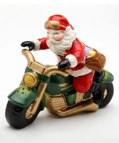 Look what I found on #zulily! Santa Motorcycle Salt & Pepper Shaker - Set…