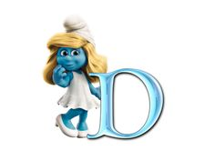 a-z, smurfette, smurfs, free alphabet, png graphics, letter clipart, alphabet clilpart, png alphabet