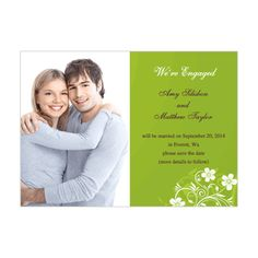 Color Coordinated Flowers Save The Date Photo Card