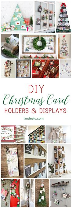 So many cute DIY Christmas card holders to put your cards on display! Love the chicken wire frame one! So many cute DIY Christmas card holders to put your cards on display! Love the chicken wire frame one! Christmas Card Display, Diy Christmas Cards, Christmas Card Holders, All Things Christmas, Holiday Fun, Christmas Holidays, Christmas Decorations, Christmas Ideas, Jolly Holiday