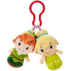 Disney Peter Pan and Tinker Bell itty bittys® Clippys Stuffed Animals