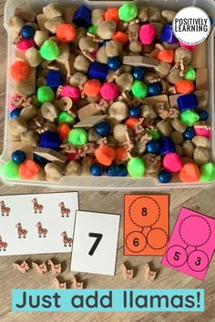 Use all those cute Target erasers for hands-on math tasks! Counting, subitizing, one-to-one correspondence, and number bonds - add to small groups and centers. From Positively Learning #targetdollarspot #targetbulleseye #targeterasers