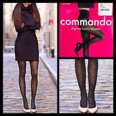 """Commando Black Tigress Tights  NEW WITH TAGS  SIZE: M Commando Black Tigress Tights  **** Incredibly quality **** * Ideal for layering. Allover black tiger print detail on semi-sheer black. * Will not fade or shrink; Dig free waist technology.  * Tagged size M, will approx fit sizes 8-10, 5'2""""-5'9"""" & 120-150 LBS * Super Soft & Stretch-To-Fit Style   Fabric: Nylon-Spandex Blend Color: Black  ✅ Bundle Discounts ✅ No Trades  Commando Accessories Hosiery & Socks"""
