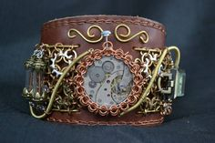 super awesome cuff in leather and chainmaille (found on Facebook, don't remember original poster)