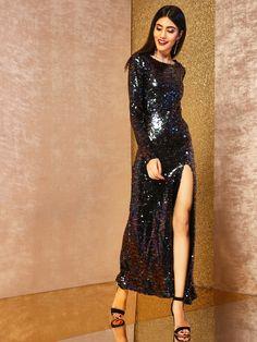 56b5e536bdc4 Buy KOOVS All Over Sequin Maxi Dress online