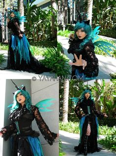 Queen Chrysalis Cosplay By Yaya Han <3 (and you can get Queen Chrysalis wings in her Etsy shop)