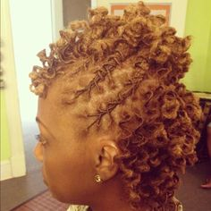 For shorter locs..Mine wouldn't turn out this curly because they're thicker
