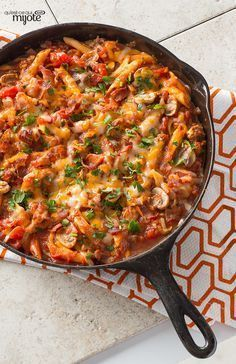 One-Pot Penne Pasta — This pasta recipe—full of fresh vegetables, ground beef, cheese and bacon—isn't just Healthy Living. It's made in one-pan, so cleanup's a breeze!