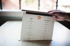 menu in table top