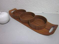 Tray with three fixed bowls - Denmark.
