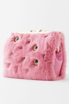 Glass eyes with human iris allure. Soft Spanish nappa lambskin lining Covering Dark Circles, Dark Circles Under Eyes, Pink Rabbit, Rabbit Fur, Fashion Bags, Fashion Accessories, Novelty Bags, Pink Handbags, Weird Fashion