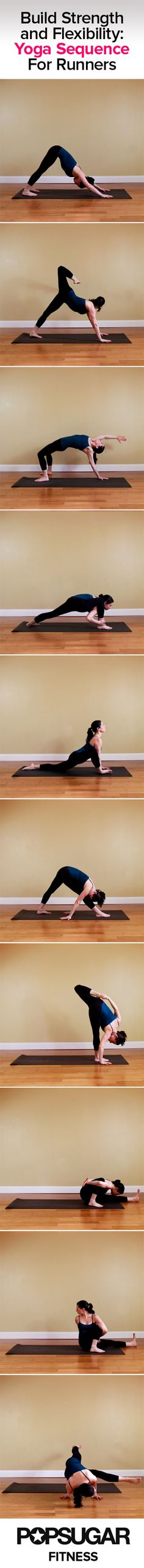Yoga Sequence For Runners | Poster