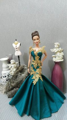 Green Lady. Tonner Barbie OOAK doll. ♥️