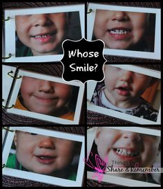 Whose Smile homemade book - would be fun for a family book or for a classroom gift