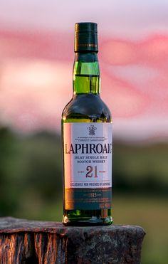 "Laphroaig 21 Limited Edition. This rare ""Exclusively for Friends of Laphroaig"" half bottle is one we picked up at the distillery last we were there, and we're going back soon—so keep an eye here for more dreamy drams from that part of the world! @laphroaigwhisky"