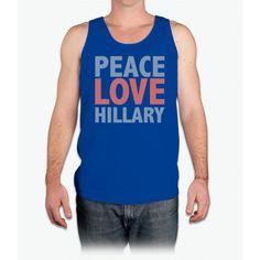 Peace Love Hillary - Mens Tank Top