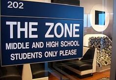 Teens only signage. Teen Zone, Seminole Community Library, St. Petersburg College, Seminole , Fl.