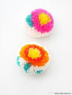 Веселые цветочные помпоны. Идеи и мастер-классы (23) (525x700, 158Kb)