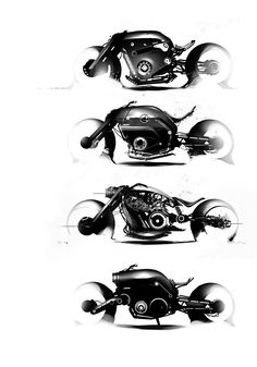 motorcycle study by Mikael Lugnegård