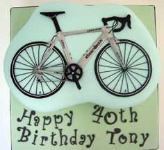 Chris Boardman road bike cake
