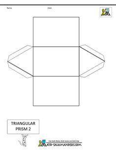 shapes for kids triangular prism net 2 tabs