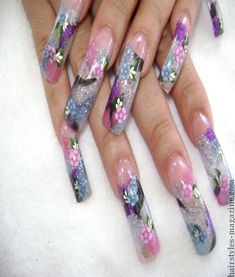 long acrylic nails Collection of Chic Acrylic Nail Art designs to Make you spellbound!