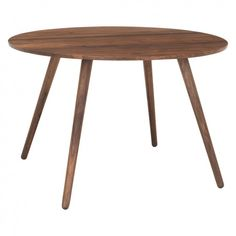 VINCE 4 seat round walnut dining table | Buy now at Habitat UK
