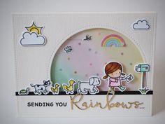 #mamaelephant #sundaystroll #waffleflower #rainbows #post #handmadecard
