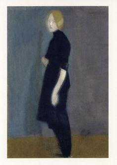 c.1916 'Flickgestait' (girl figure)... by; Helene Schjerfbeck