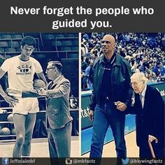 Never forget the people that helped and guided you.-Kareem Abdul Jabar and his coach John Wooden Sweet Stories, Cute Stories, We Are The World, In This World, Human Kindness, Touching Stories, A Silent Voice, Faith In Humanity Restored, Looks Cool