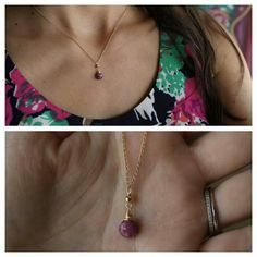 Ruby (July´s Birthstone) Necklace by ATELIER Gaby Marcos