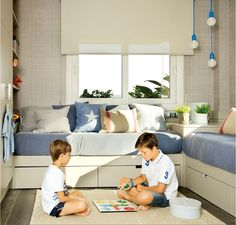 〚 Light and warm kids room for two brothers 〛 ◾ Photos ◾Ideas◾ Design Girl Room, Girls Bedroom, Childrens Bedroom Decor, Bunk Rooms, Shared Bedrooms, Kids Room Design, Kid Beds, Decoration, Room Inspiration