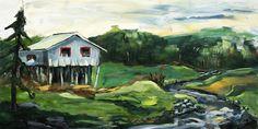 """Jamie's Farm"" - Lynn Cyr, fine artist (acrylic painting of old barn/shack)"