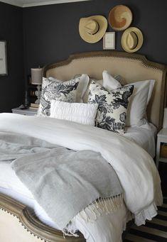 42 + Dark Gray Bedroom Walls Master Suite Tips 56 Dark Gray Bedroom, Grey Bedroom Paint, Dark Bedroom Walls, Home Bedroom, Bedroom Decor, Bedroom Ideas, Grey Bedrooms, Master Bedroom, Master Suite
