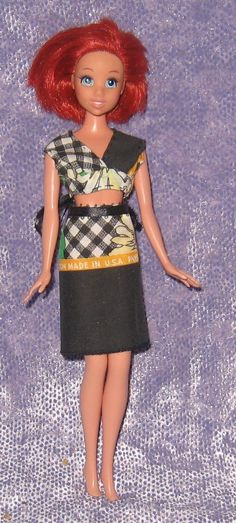 Daisy Ribbon Top and Daisy Pencil Skirt - Custom, Handmade