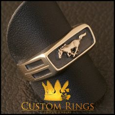Mustang Ring by CustomRingsPL on Etsy