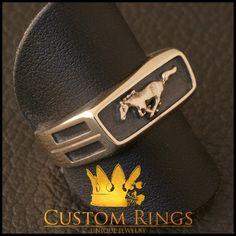 Mustang Ring by CustomRingsPL on Etsy