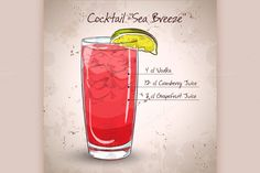 Cocktail Sea Breeze Graphics Cocktail Sea Breeze with Cherry and lime on isolated white by Netkoff Singapore Sling Cocktail, Bar Pics, Juice 3, Cocktail Glass, Pattern And Decoration, Fun Drinks, Design Bundles, Graphic Design Art, Bartender