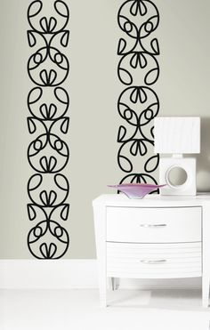 Create your own wall art using Ribbon Headboard Wall Stickers by @notneutralpin.