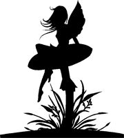 sitting fairy silhouette - Google Search