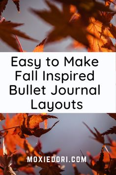 Hop over here for the step by step on how to create cozy and colorful fall bujo layouts. #bulletjournal #moxiedori Bullet Journal Tools, December Bullet Journal, Bullet Journal Stencils, Bullet Journal Spread, Bullet Journal Layout, Bullet Journal Inspiration, Journal Ideas, Bullet Journal Christmas, Time Management Techniques