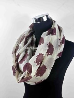 Find More Scarves Information about 10pcs/lot Hedgehog Animal Print Infinity Scarf Loop Circle Ladies Gift Accessories, Free Shipping,High Quality accessories boy,China accessories world Suppliers, Cheap gift acrylic from Mrs. Bean (NO.1 Scarf Store) on Aliexpress.com