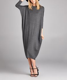Look at this #zulilyfind! Charcoal Dolman Midi Dress #zulilyfinds