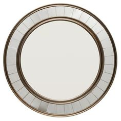 Shop for Glass Round Mirror With Antique Bronze Wooden Trim. Get free shipping at Overstock.com - Your Online Home Decor Outlet Store! Get 5% in rewards with Club O! - 24647237