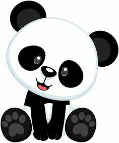 Panda on pandas panda bears and cute panda clip art - Clipartix Panda Png, Niedlicher Panda, Panda Bebe, Cute Panda, Cartoon Panda, Image Panda, Panda Baby Showers, Panda Store, Baby Animals